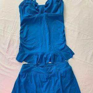 Lands End Royal Blue Tankini